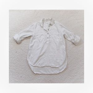 Lou and Grey 1/2 Button Down Shirt Sz Small
